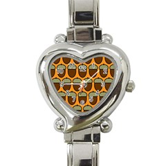 Acorn Orang Heart Italian Charm Watch
