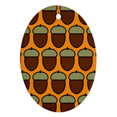 Acorn Orang Oval Ornament (Two Sides)