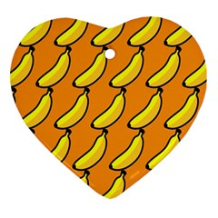 Banana Orange Ornament (Heart)
