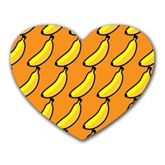 Banana Orange Heart Mousepads
