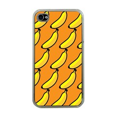 Banana Orange Apple iPhone 4 Case (Clear)