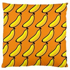 Banana Orange Large Cushion Case (One Side)