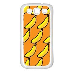 Banana Orange Samsung Galaxy S3 Back Case (White)