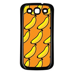 Banana Orange Samsung Galaxy S3 Back Case (Black)