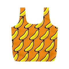 Banana Orange Full Print Recycle Bags (m)
