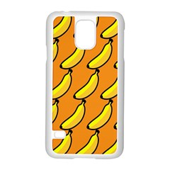Banana Orange Samsung Galaxy S5 Case (White)