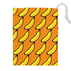 Banana Orange Drawstring Pouches (XXL)