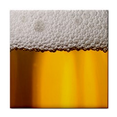 Beer Foam Yellow Tile Coasters