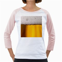 Beer Foam Yellow Girly Raglans