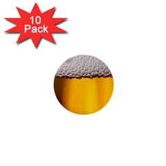 Beer Foam Yellow 1  Mini Buttons (10 pack)