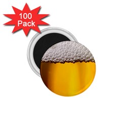 Beer Foam Yellow 1.75  Magnets (100 pack)