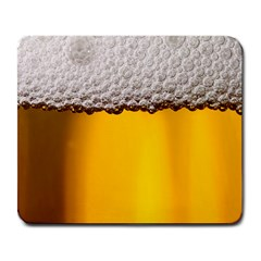 Beer Foam Yellow Large Mousepads