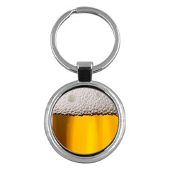 Beer Foam Yellow Key Chains (Round)
