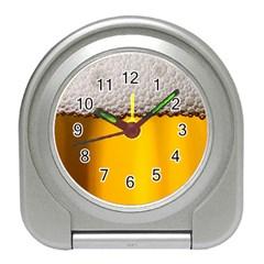 Beer Foam Yellow Travel Alarm Clocks