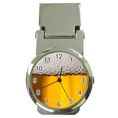 Beer Foam Yellow Money Clip Watches