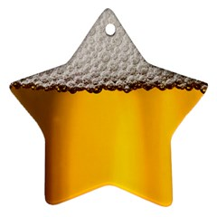Beer Foam Yellow Star Ornament (Two Sides)
