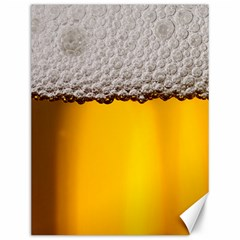 Beer Foam Yellow Canvas 12  x 16