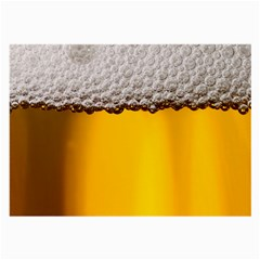 Beer Foam Yellow Large Glasses Cloth