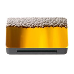 Beer Foam Yellow Memory Card Reader with CF