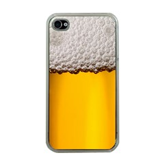 Beer Foam Yellow Apple iPhone 4 Case (Clear)