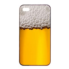 Beer Foam Yellow Apple iPhone 4/4s Seamless Case (Black)