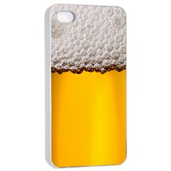 Beer Foam Yellow Apple iPhone 4/4s Seamless Case (White)