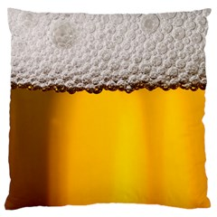 Beer Foam Yellow Large Cushion Case (One Side)