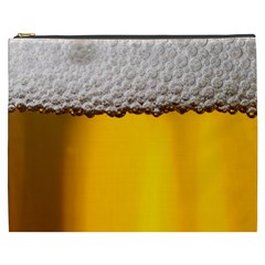 Beer Foam Yellow Cosmetic Bag (XXXL)