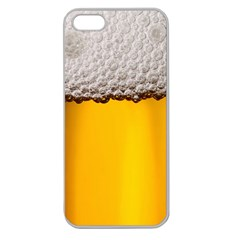 Beer Foam Yellow Apple Seamless iPhone 5 Case (Clear)