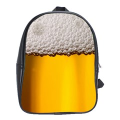 Beer Foam Yellow School Bags (XL)