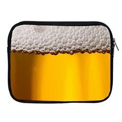 Beer Foam Yellow Apple iPad 2/3/4 Zipper Cases
