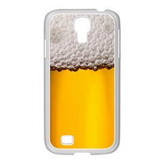 Beer Foam Yellow Samsung GALAXY S4 I9500/ I9505 Case (White)