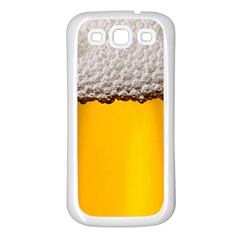 Beer Foam Yellow Samsung Galaxy S3 Back Case (White)