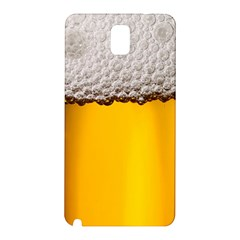 Beer Foam Yellow Samsung Galaxy Note 3 N9005 Hardshell Back Case