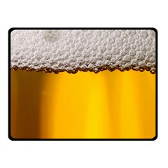 Beer Foam Yellow Double Sided Fleece Blanket (Small)