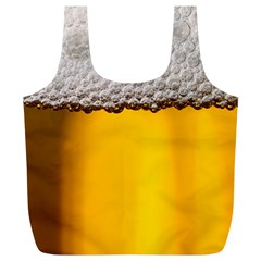 Beer Foam Yellow Full Print Recycle Bags (L)