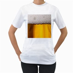 Beer Foam Yellow Women s T-Shirt (White)