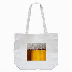 Beer Foam Yellow Tote Bag (White)