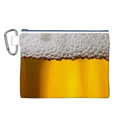 Beer Foam Yellow Canvas Cosmetic Bag (L)