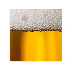 Beer Foam Yellow Small Satin Scarf (square)