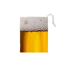 Beer Foam Yellow Drawstring Pouches (XS)