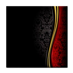 Black Red Yellow Tile Coasters