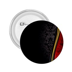 Black Red Yellow 2.25  Buttons