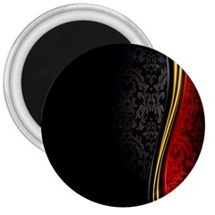 Black Red Yellow 3  Magnets
