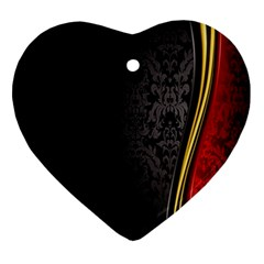Black Red Yellow Ornament (Heart)