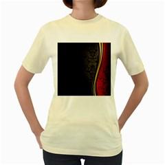 Black Red Yellow Women s Yellow T-Shirt