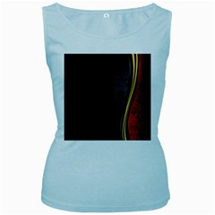 Black Red Yellow Women s Baby Blue Tank Top