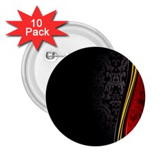 Black Red Yellow 2.25  Buttons (10 pack)