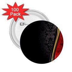 Black Red Yellow 2.25  Buttons (100 pack)