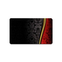 Black Red Yellow Magnet (Name Card)